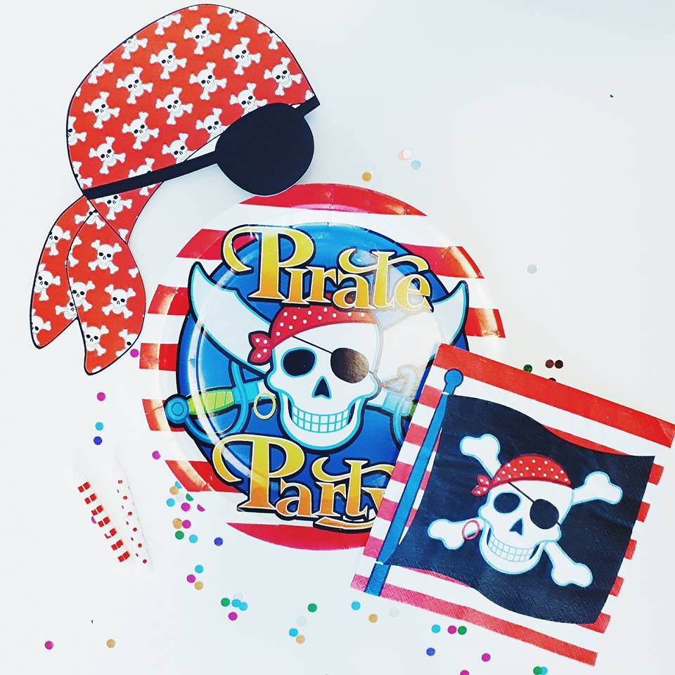 Pirate ParTAY - Order our super cool pirate party in a box for your little captain. Your little one and their guests will love this fun themed party including a pirate treasure map game, photo booth props and fab decor.Party box is for 8 people.