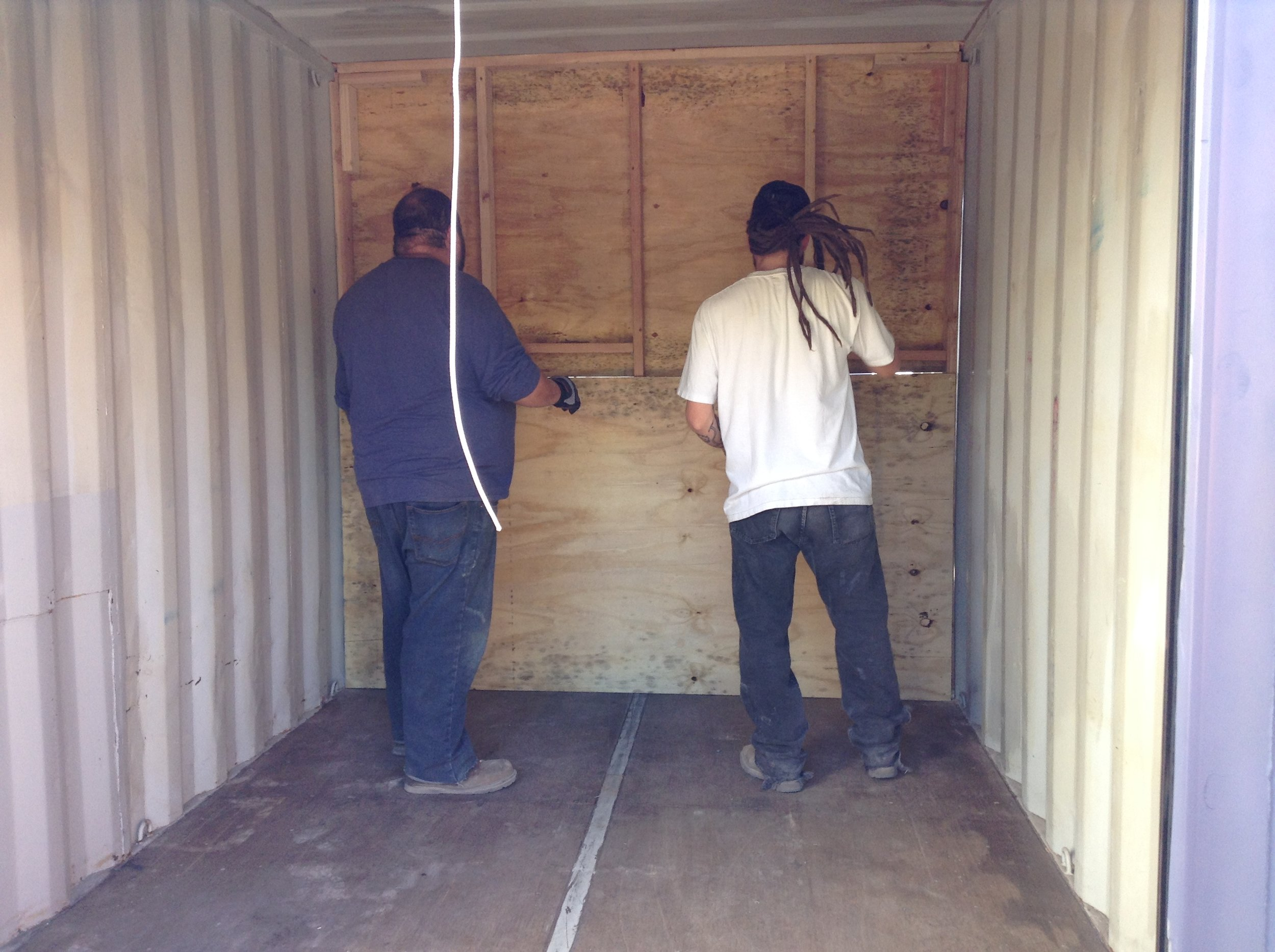 shipping container interior partition wall