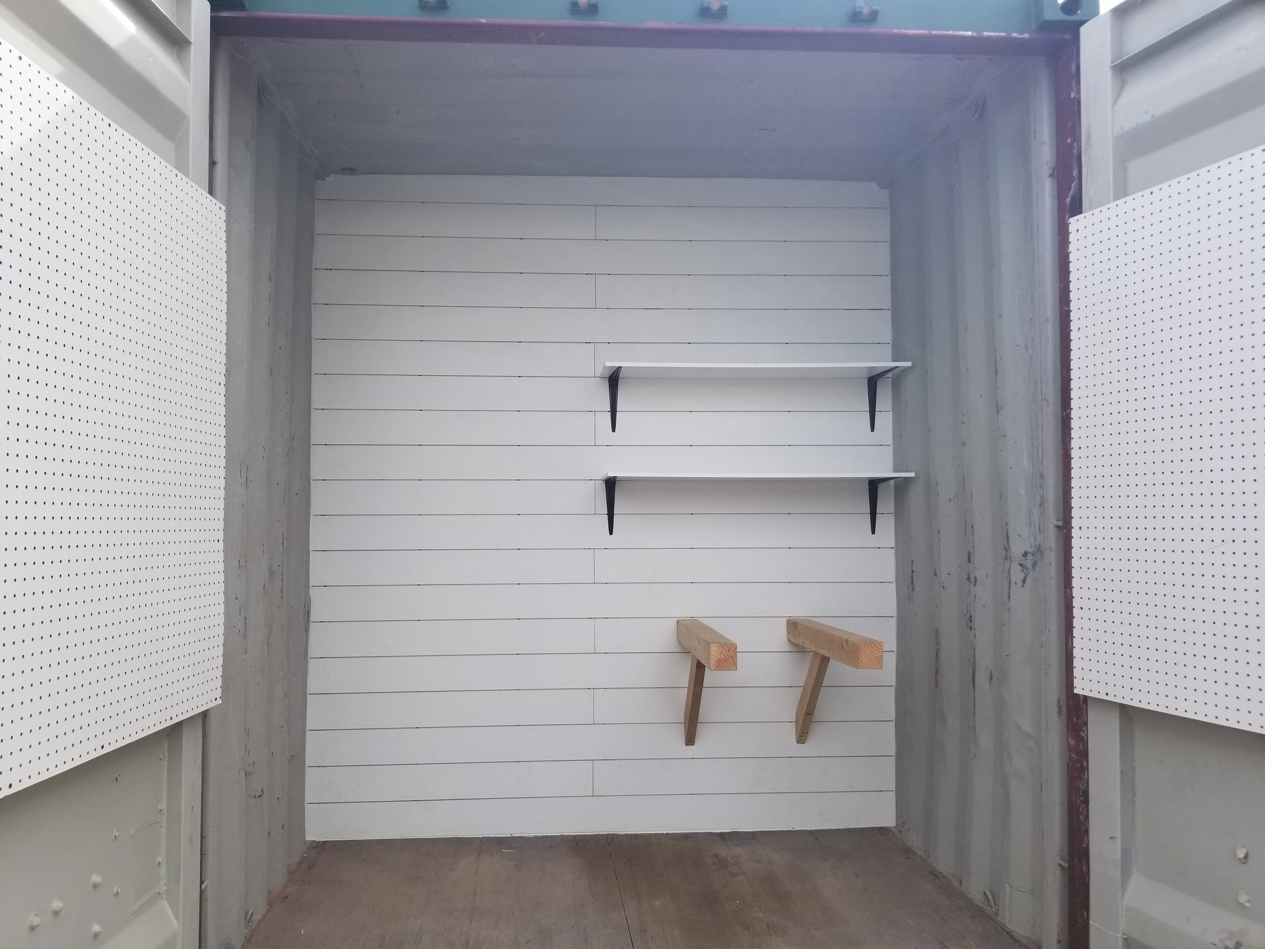custom horse corral & tack room storage