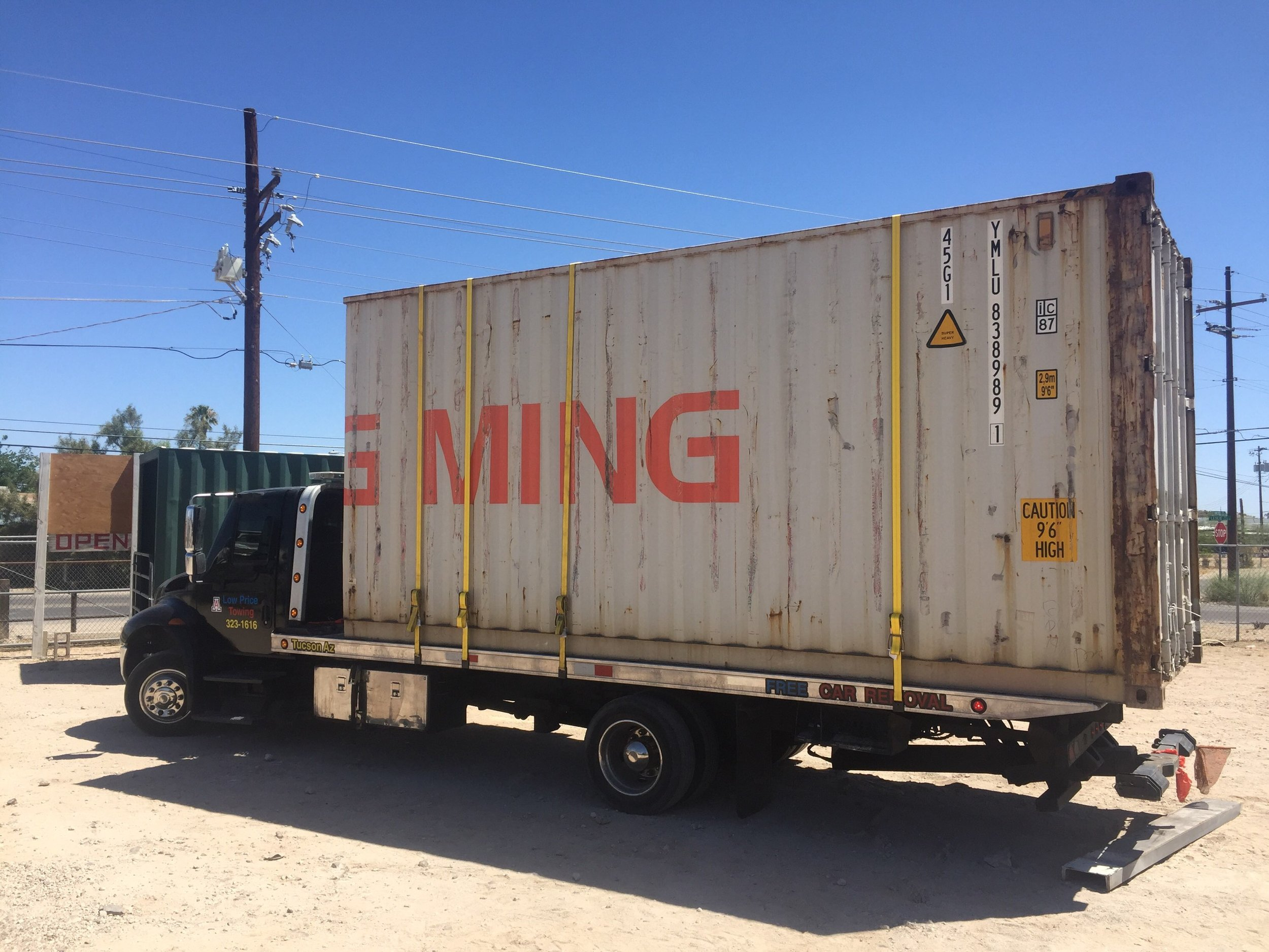 20' shipping container delivery