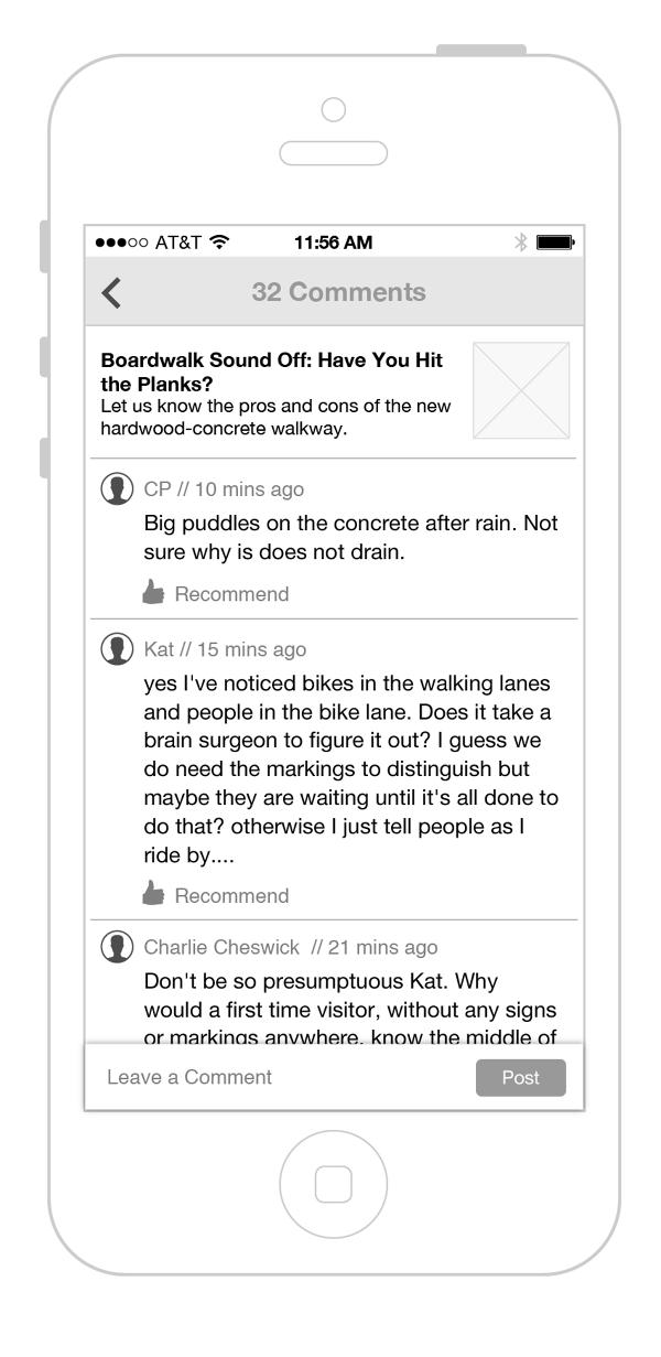 Blog post comments