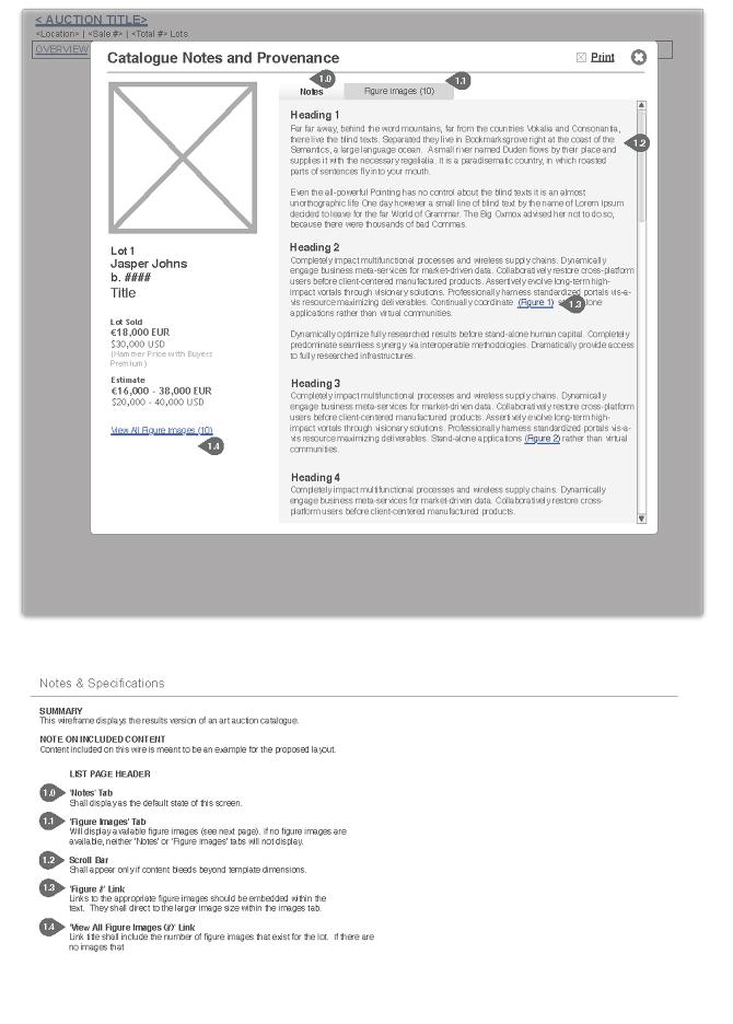 Auction - Lot catalogue notes