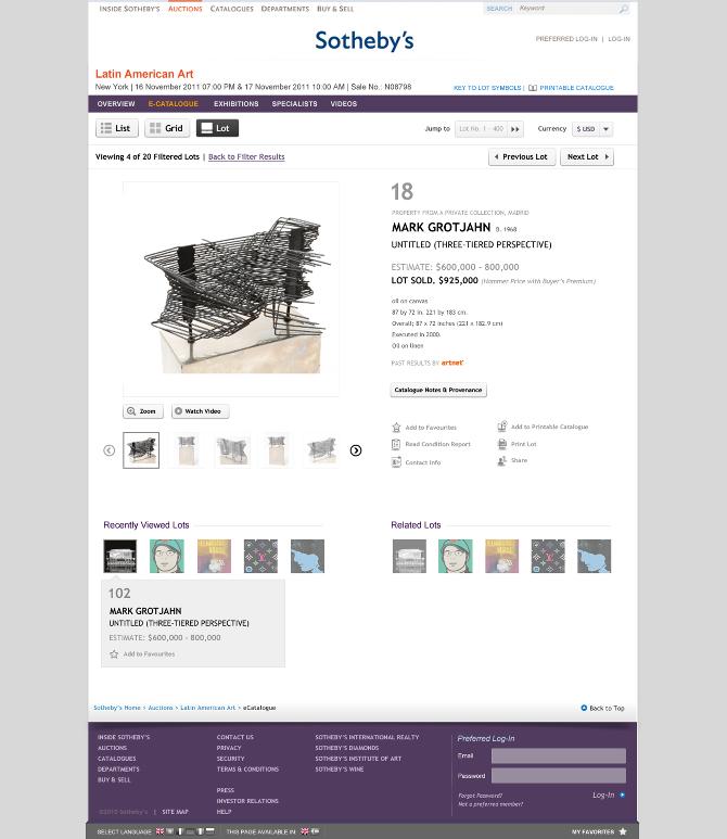Auction - Lot detail view