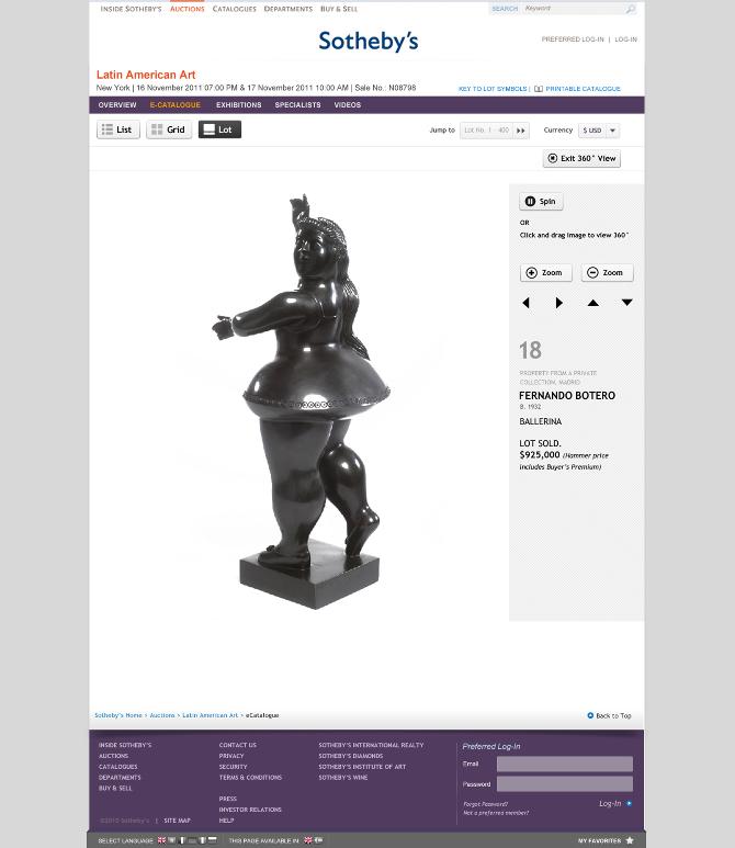 Auction - Lot detail 360 rotation