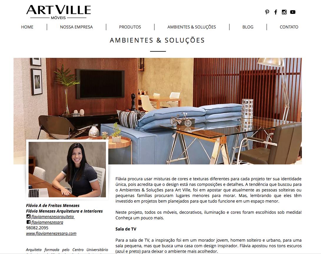 ARTVILLE MOVEIS _Ambientes & Soluções - Sala de TV e Projetos