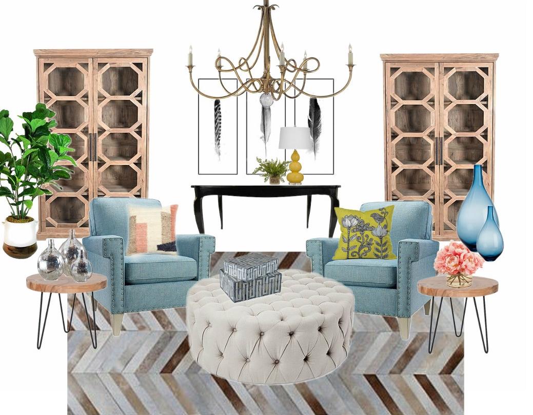 E-dEsign design board: Lobby/reception sitting room