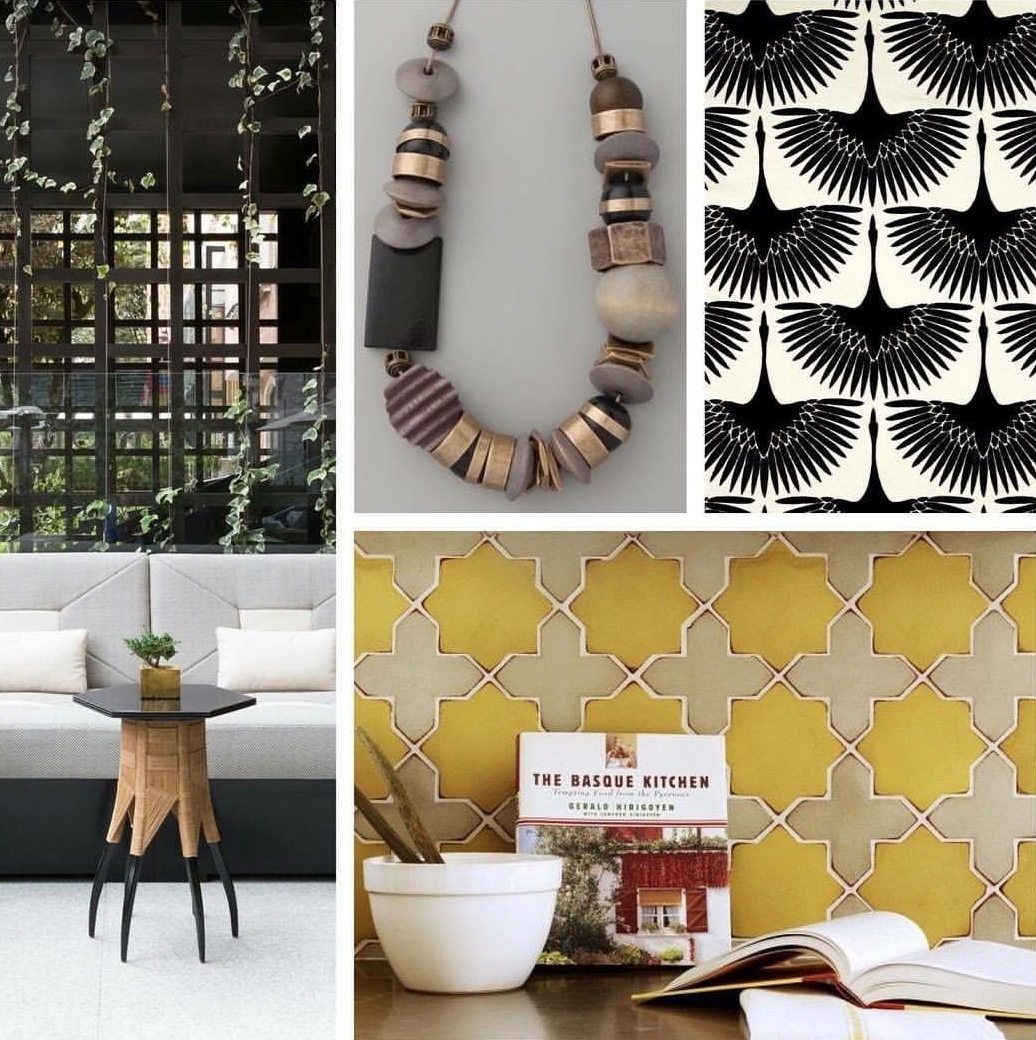 e-design inspiration board: urban funk kitchen or cafe