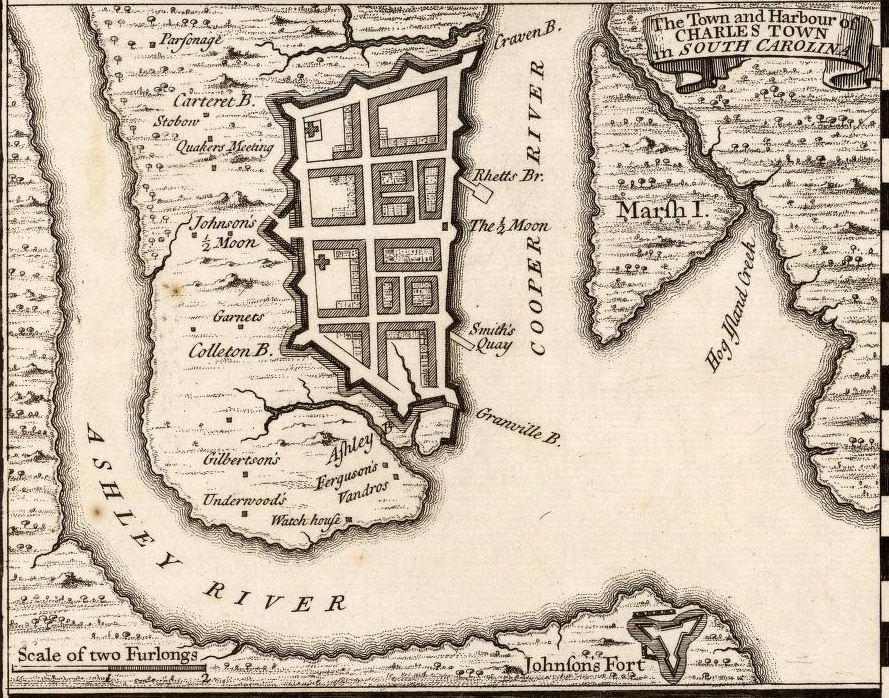 Herman Moll Map of the Walled City, 1733