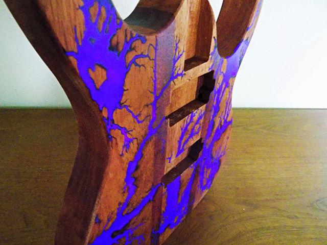 Can't stop posting this purple glowing guitar body. Sorry everyone. . . . . . #thunderstruckstudios #thunderstruck  #guitar #guitarporn #guitars #guitarist #luthier #craftsmanship #noshortcuts #ecofriendly #fortcollins #colorado #handmade #lichtenberg #fractal #woodworking #finewoodworking #customfurniture #moderndesign #woodwork #modern #art #design #artcollector #craft #woodcraft #craftfair