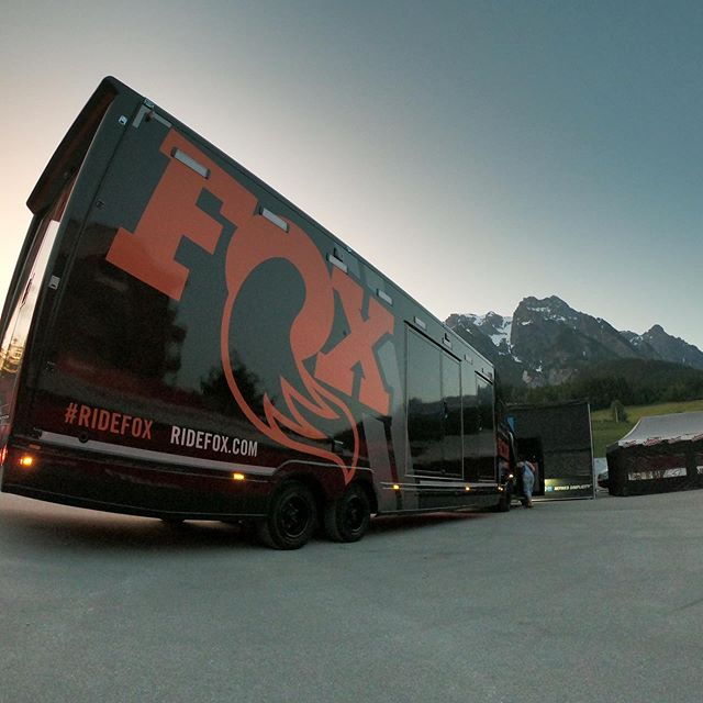 Drove for 3days but we made it to Leogang! Big day of service again today. #flotec #leogang #scotlandssuspensionexperts #ridefoxbike