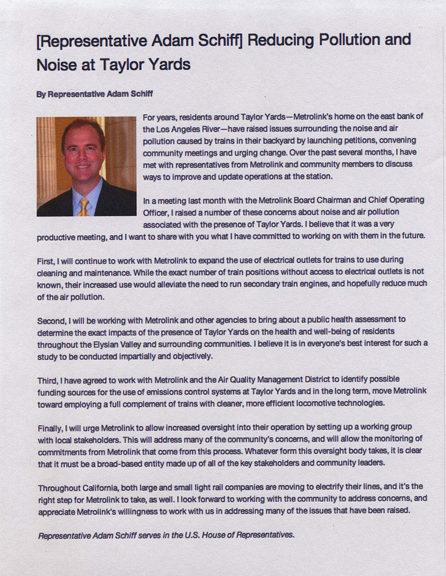 Thank you for your Ongoing commitment to public health, Congressman Schiff!