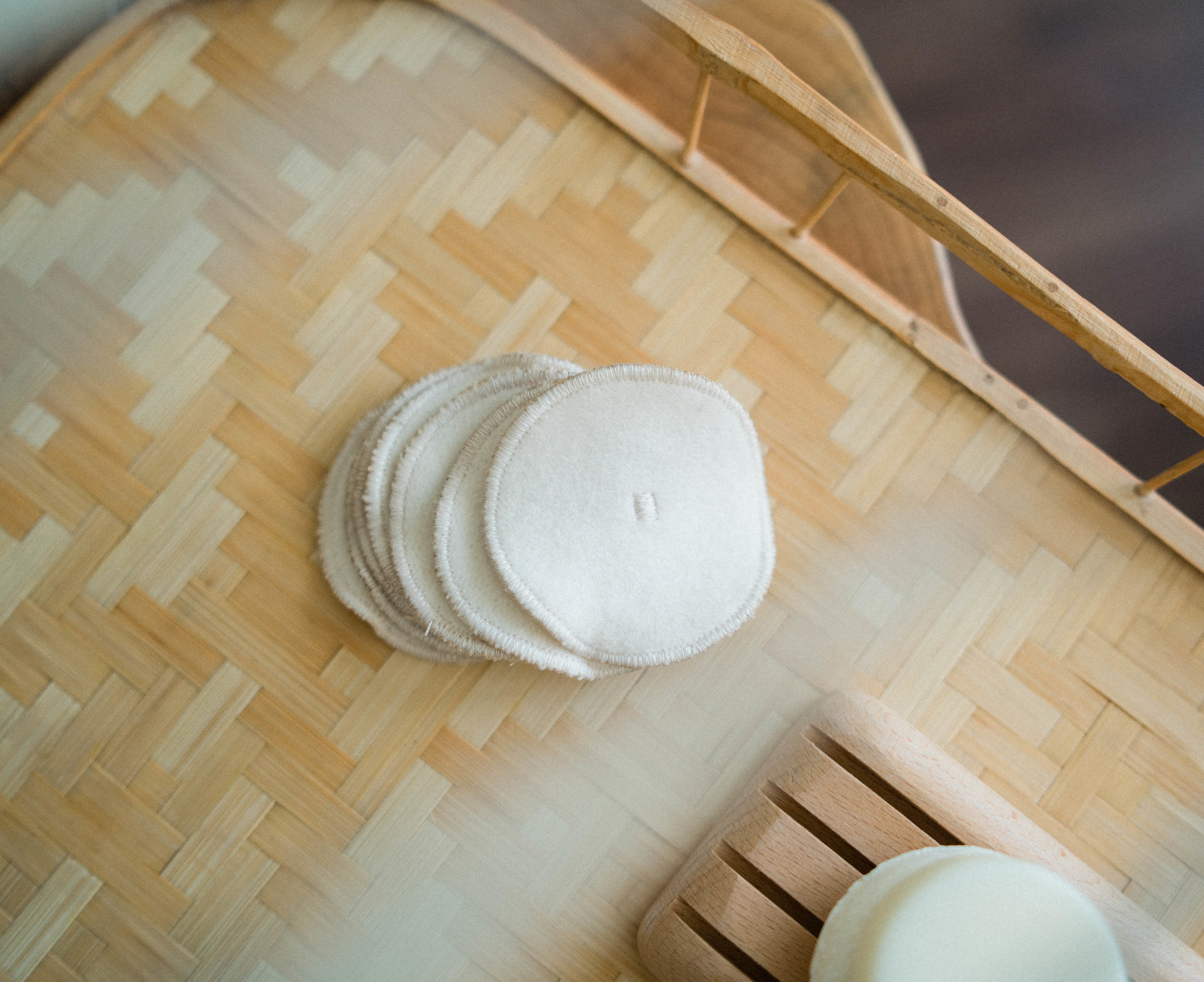 2. Bamboo Rounds and Face Cloths - When I thought about making my bathroom routine low-waste, I thought the hardest thing to change was not using cotton pads and cotton swabs.I actually LOVE using these instead of regular cotton pads! They don't leave any residue on my face, and they're incredibly soft after a couple of washes.Tip: My solution to cotton swabs was using the edges of these bamboo rounds to clean up any mascara on my eye lids. To clean my ears, I use a metal ear cleaner.These organic bamboo rounds were purchased from Unwrapped Life.