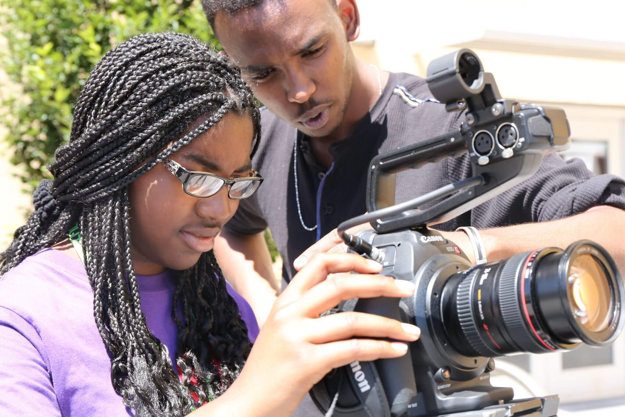 Educate. - Students learn from experienced media professionals and get in-depth training in a growing career field -- all for free!