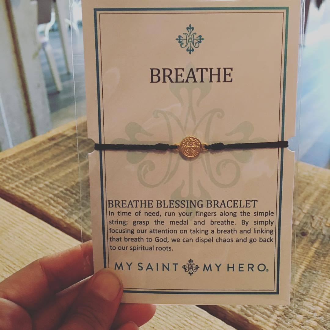 Breathe Bracelet by My Saint, My Hero, $16