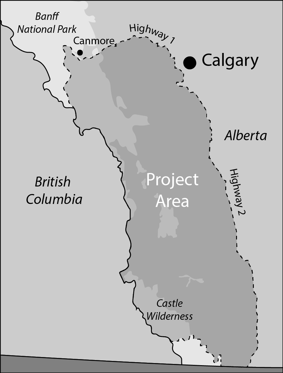 The Landscapes in Motion project area covers nearly 20,000 square kilometers in the southern Rockies.