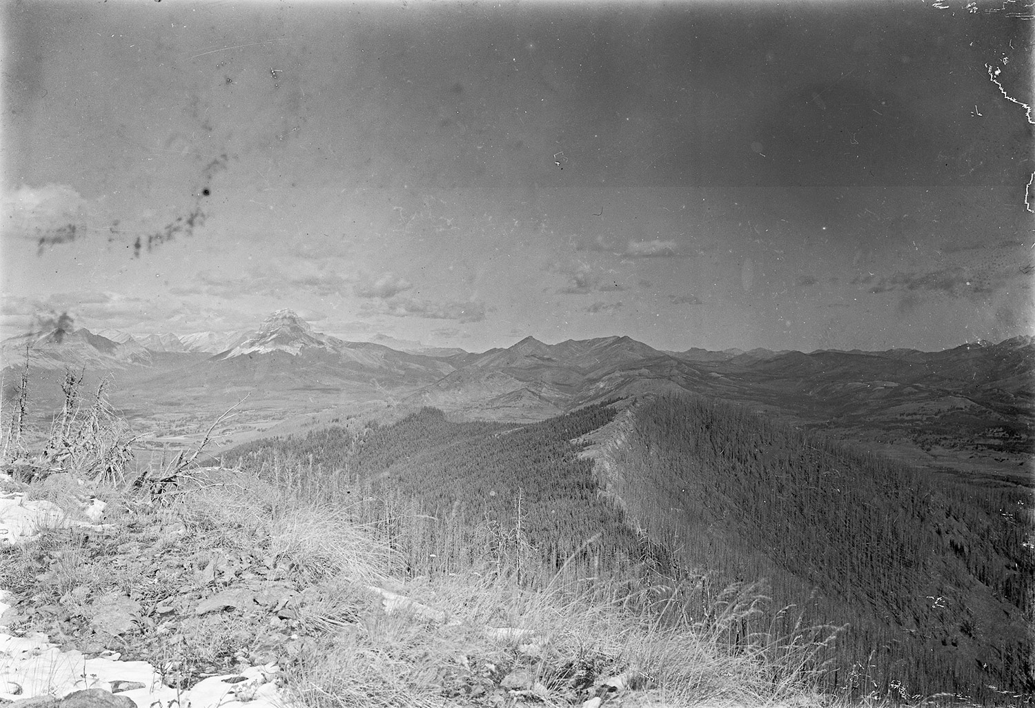 Photo taken of Willoughby Ridge in 1913, courtesy of the Mountain Legacy Project.