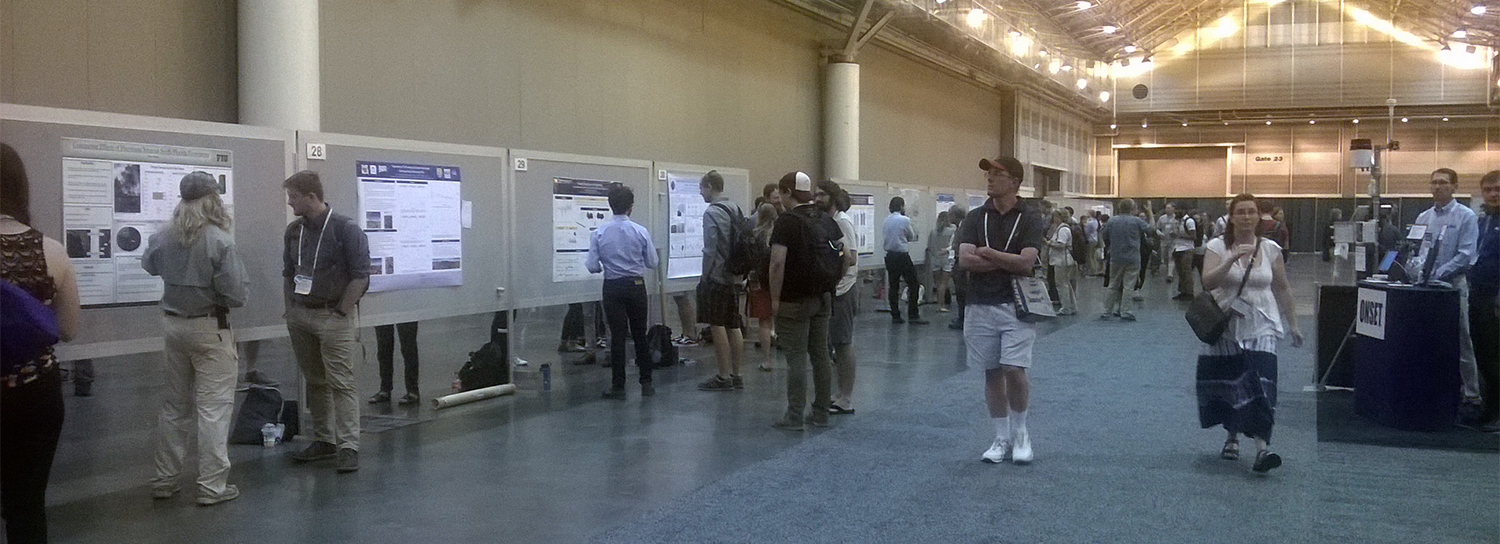A peek at the ESA poster session. Besides the science, I particularly enjoyed that some stands gave out chocolate! Photo by C. Barros.