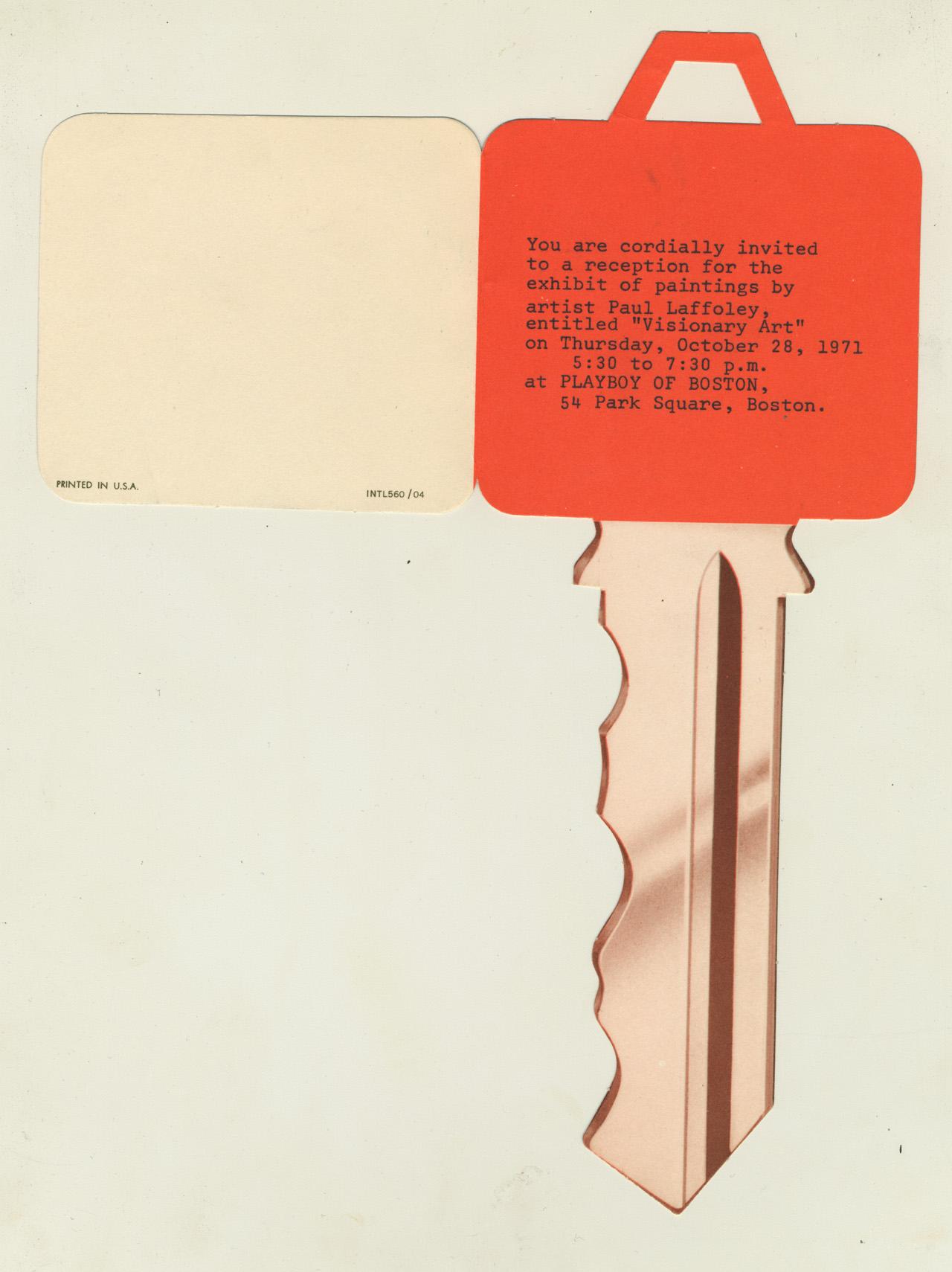Playboy of Boston Exhibition Announcement, 1971
