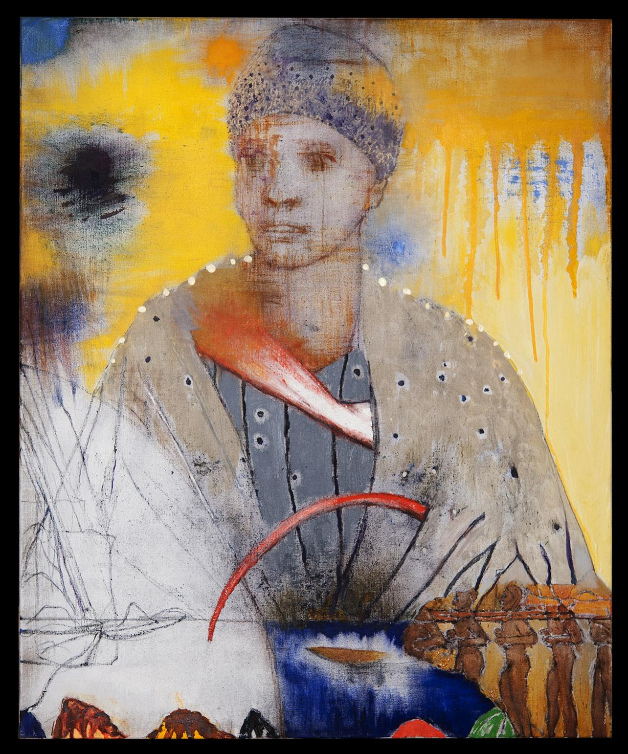 2015_Madonna of slavery IV, Huile sur toile, 73 x 60 cm, Paris.jpg
