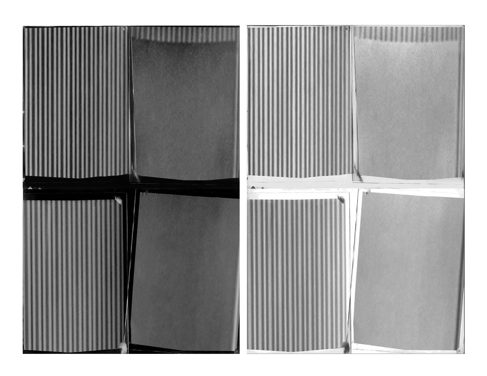 Duchamp Erased (Diptych), (2015)