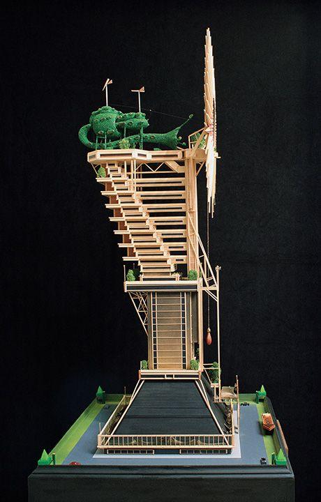 QUARTUMDIMENSIO AEDIFICIUM (THE CLAUDE BRAGDON MEMORIAL BUILDING), detail, (1973)