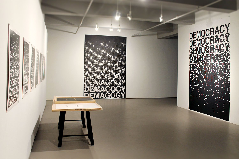 Muntadas: Projects/Proposals installation view at Kent Fine Art, Summer 2017