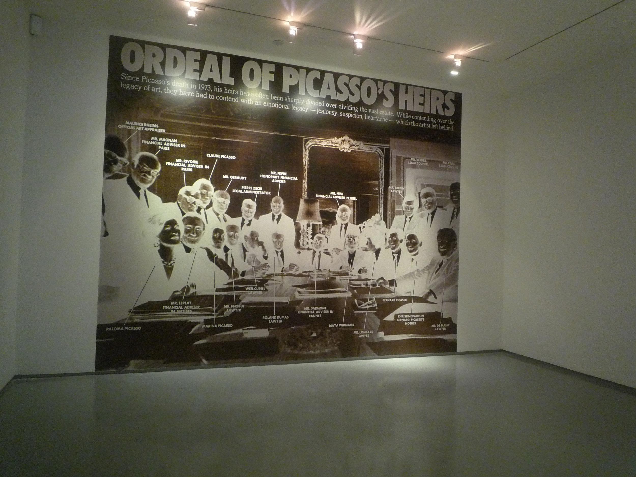 Muntadas, Ordeal of Picasso's Heirs, 2012