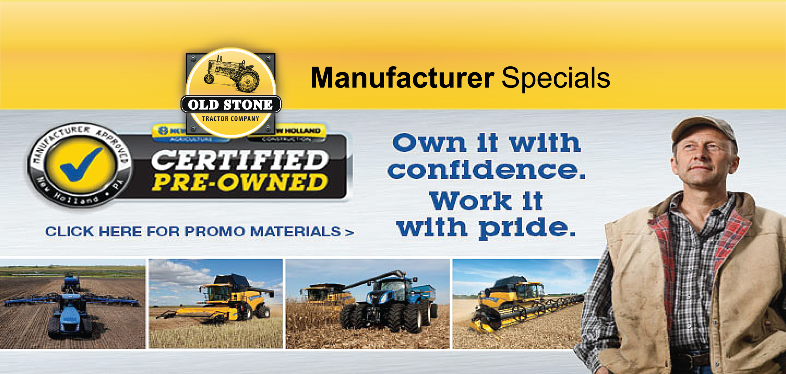 Old Stone Tractor Company - Agriculture Equipment, Construction Equipment, Outdoor Power Equipment