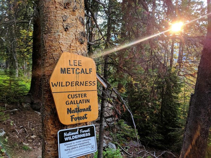 Switchbacks entering Lee Metcalf Wilderness