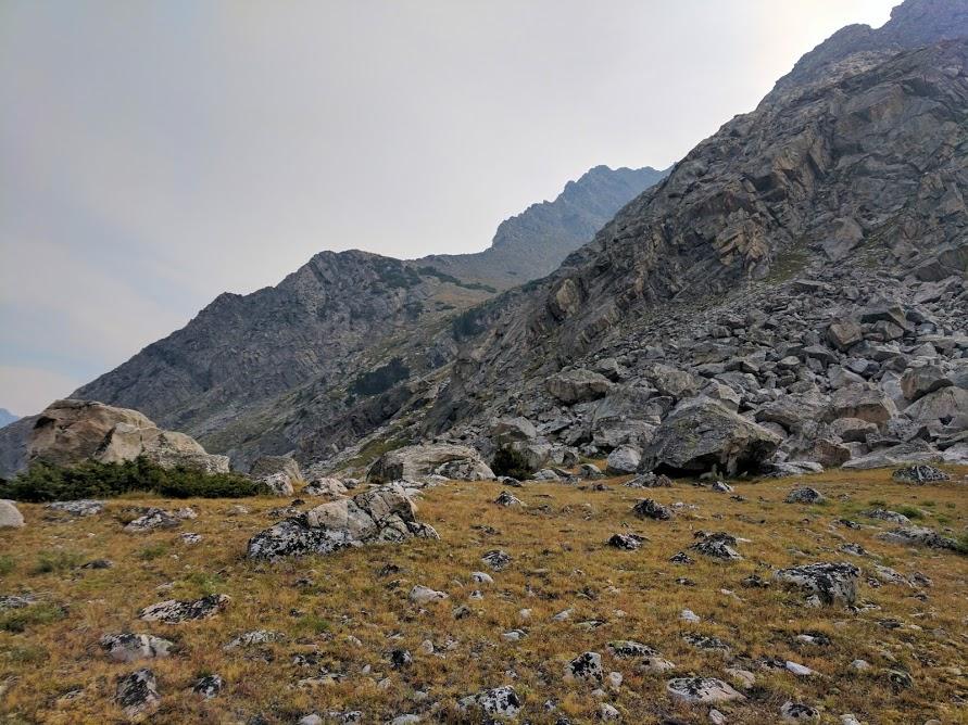 The western gully of Gallatin Peak