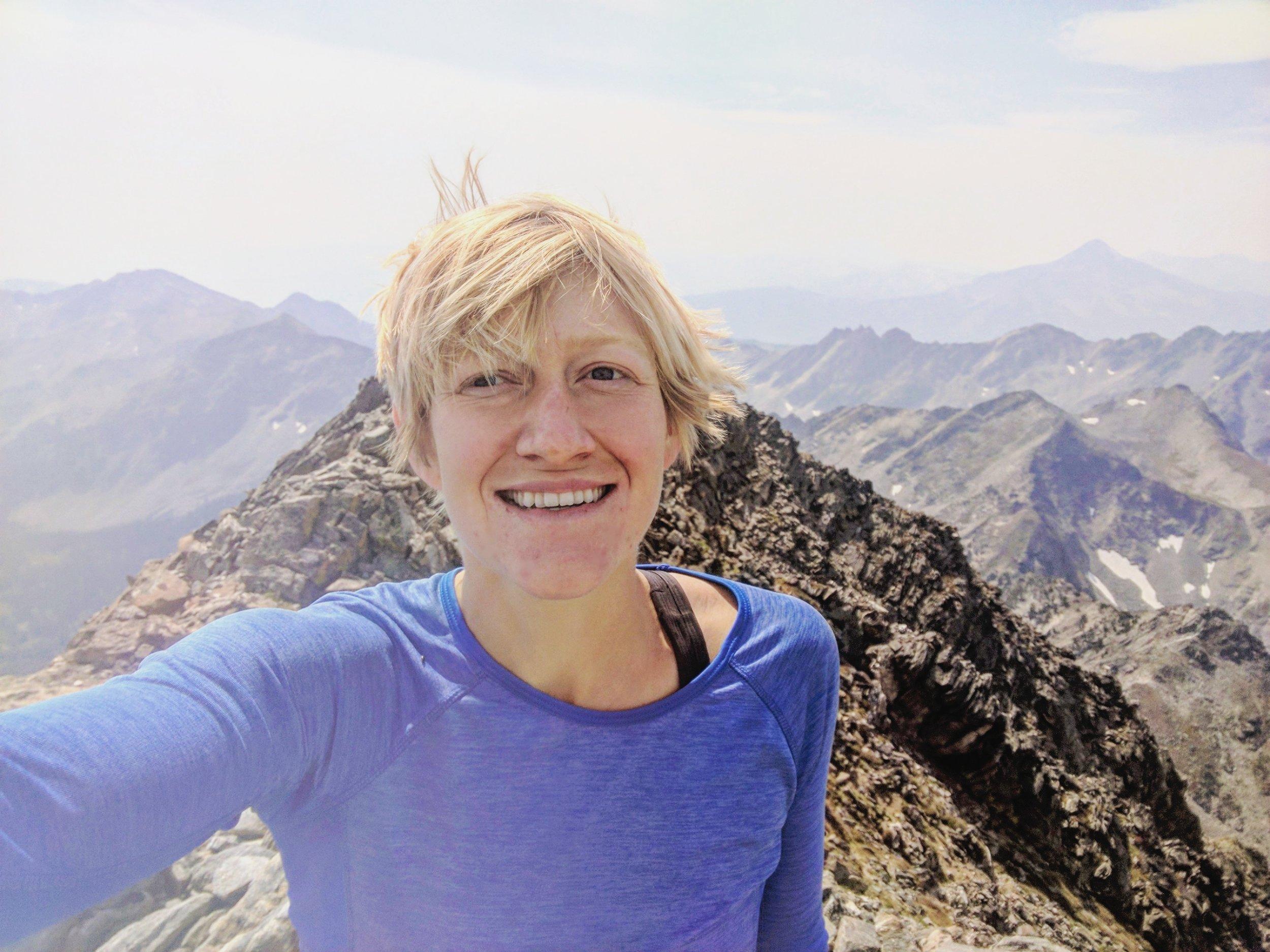 On the summit of Gallatin Peak!