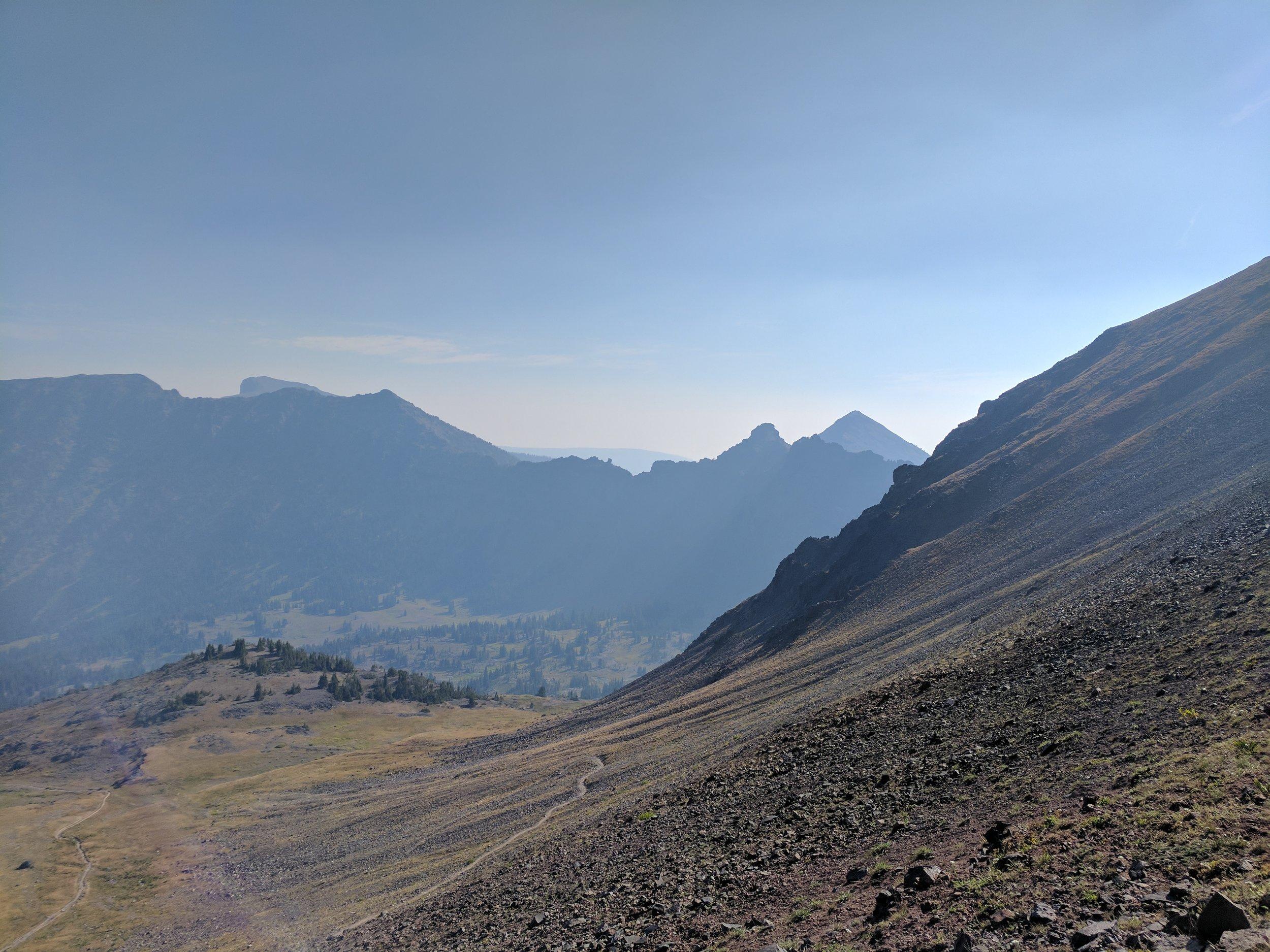 The sweeping northern flank of Hyalite Peak