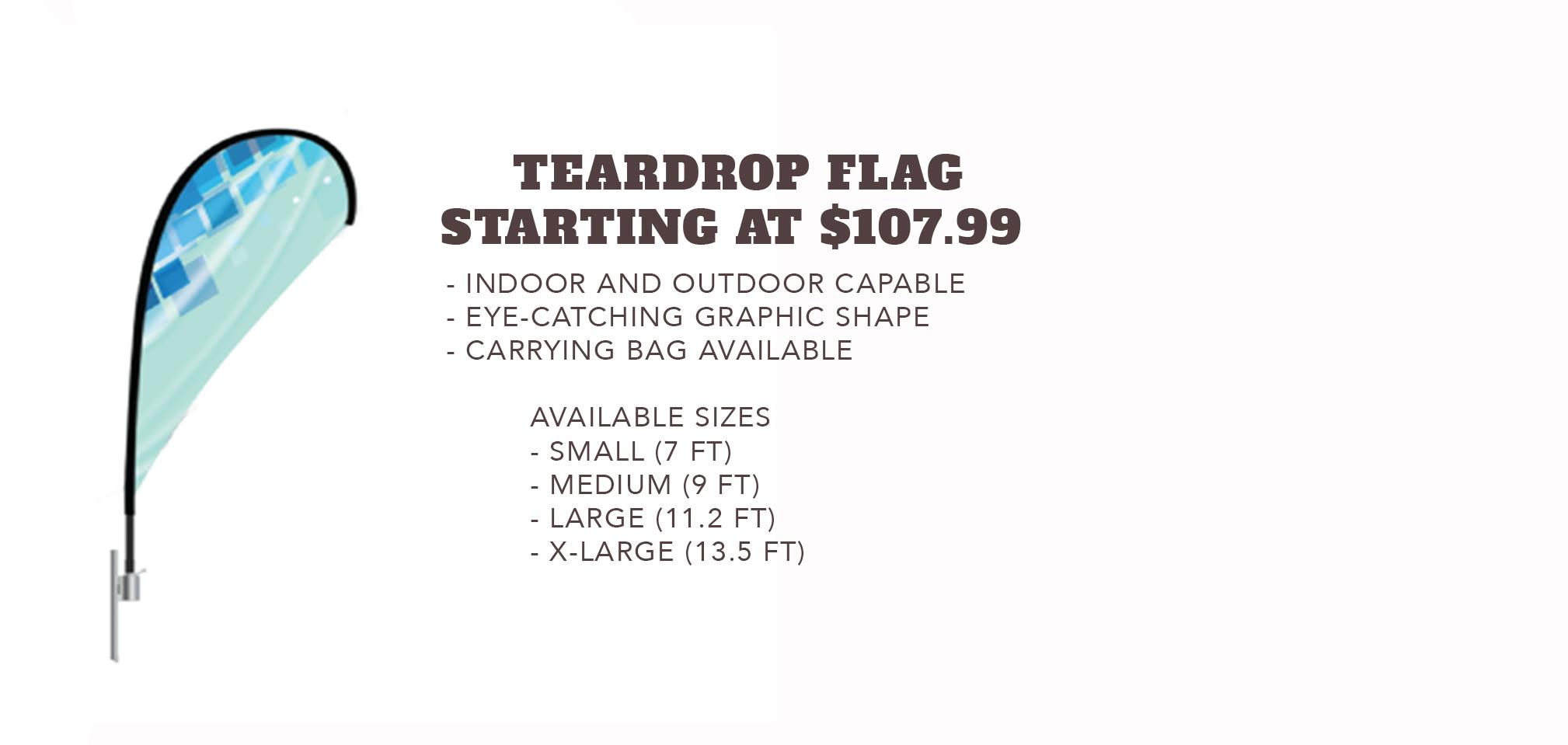 Teardrop Flags - Starting at $107.99