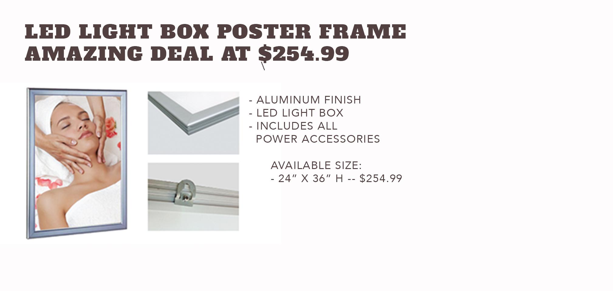 LED Light BoxPoster Frame - Only $254.99