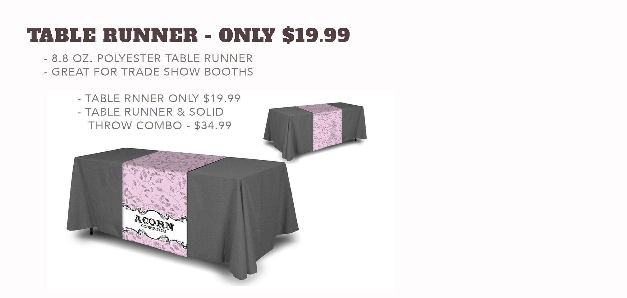 Table Runner - Starting at $19.99