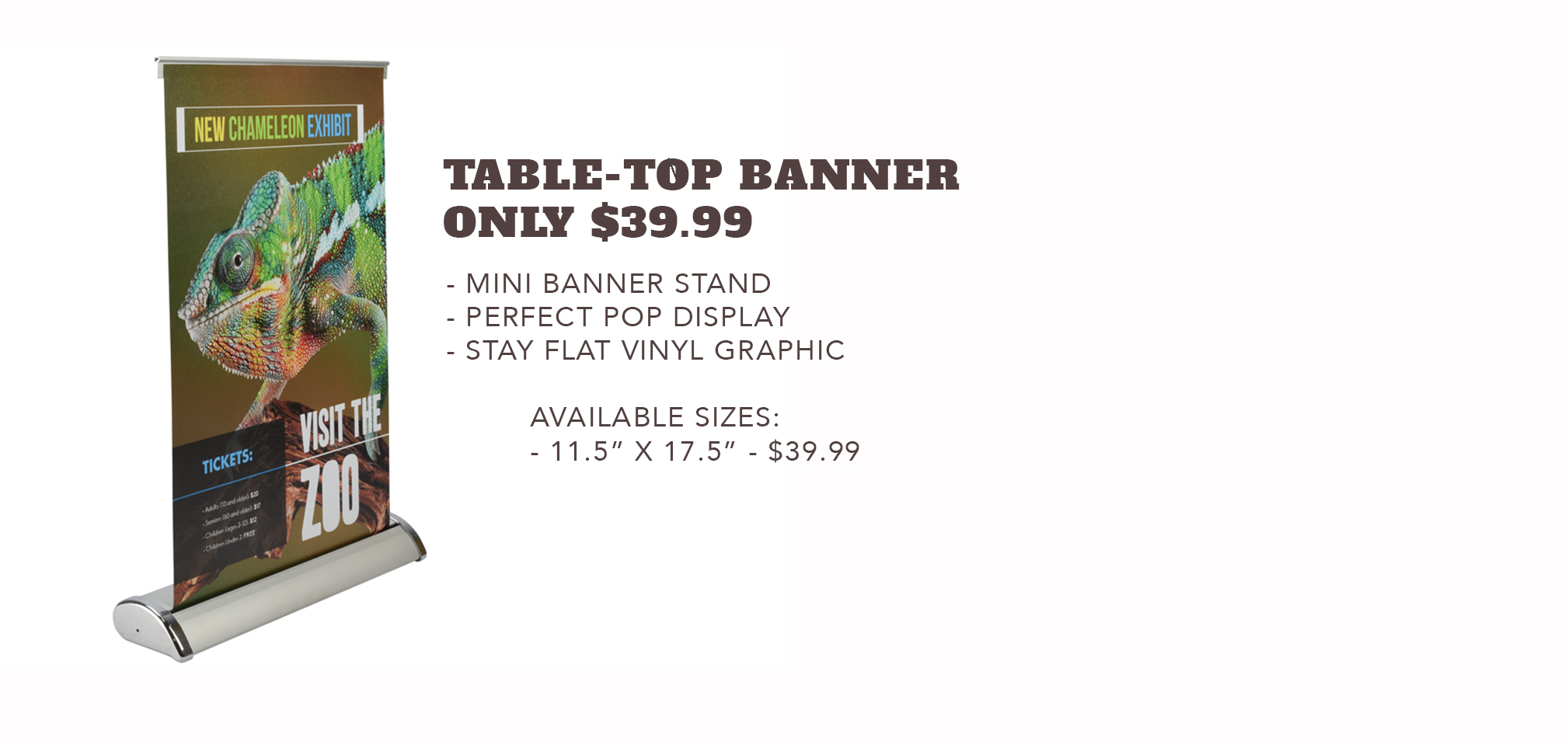 Table-Top Banner - Only $39.99