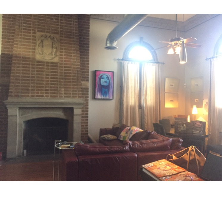 """""""Before"""" fireplace/living space"""