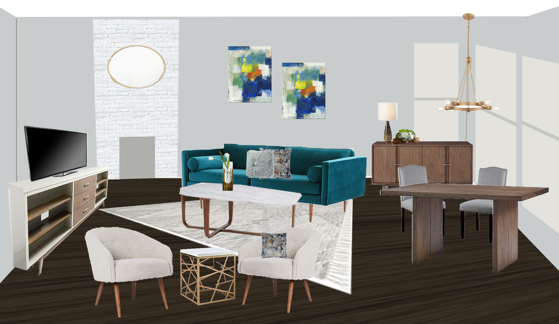 Rendering for new living room