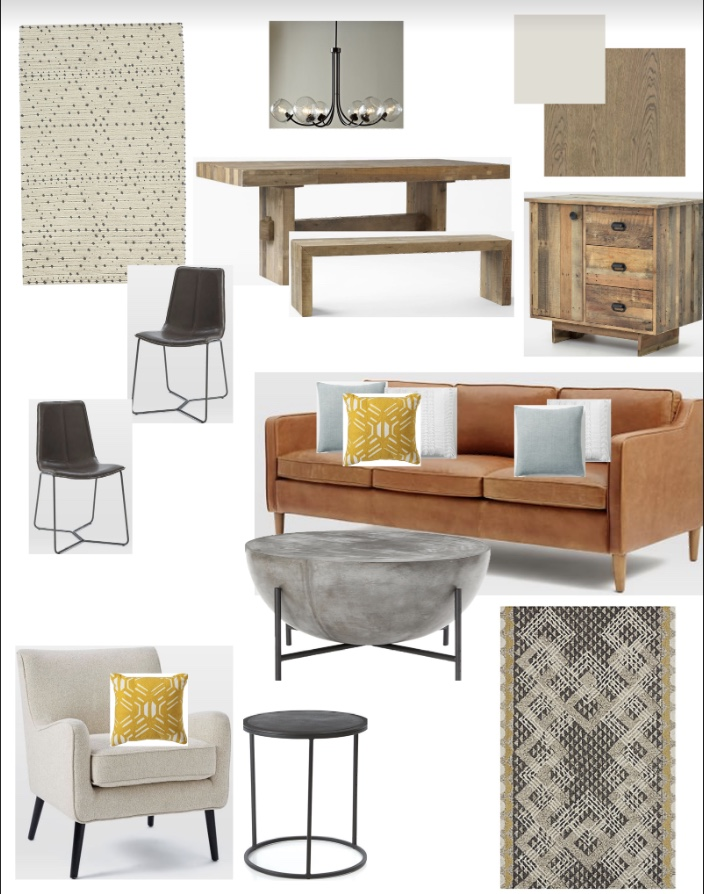 Concept board for new living room