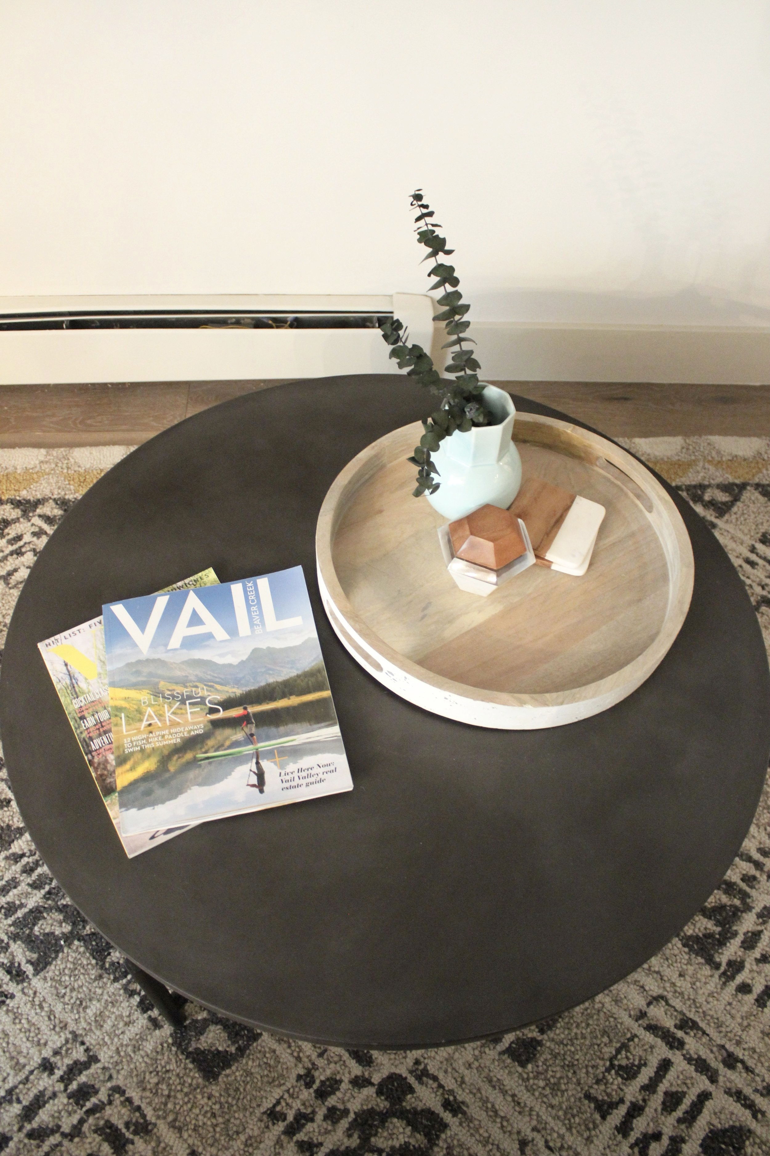 """""""After"""" coffee table vignette"""