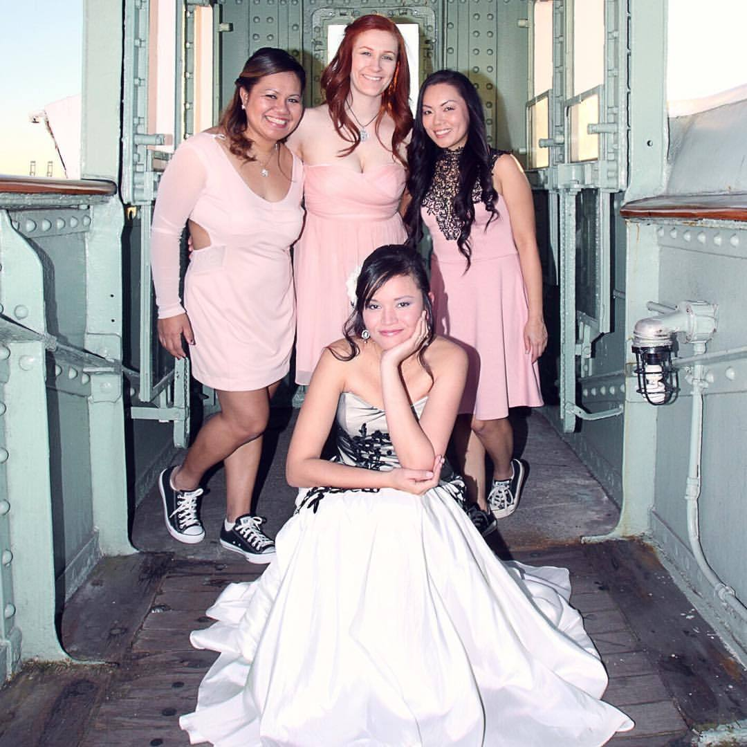 Too cute! nunezweddings  (at The Queen Mary)