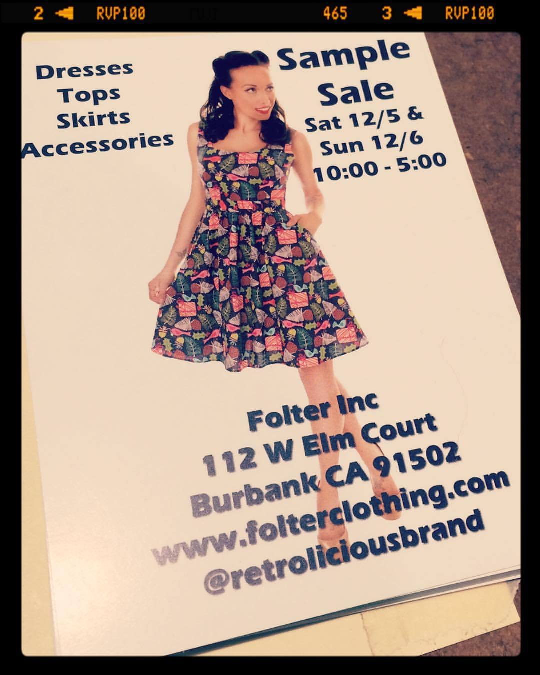 Sample sale next week with @retroliciousbrand , you don't want to miss out!                                              —————————#retrolicious #folterclothing #follterfamily #dress #samplesale #Burbank #losangeles #losangelesfashion #smallbusinesssaturday #smallbusiness #retro #vintagestyle #pinup #pretty #muah #mikepradofoto  #nunezphotography  (at Burbank, California)