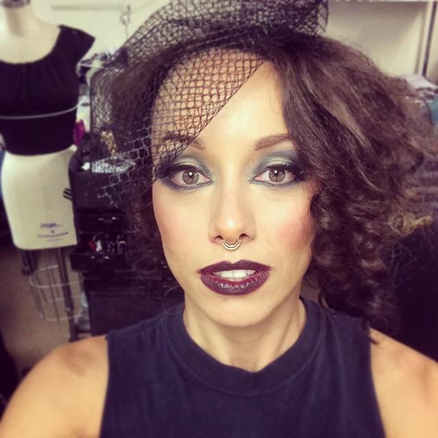 Sometimes I get my makeup done! #FolterFamily #folterclothing #retrolicious @retroliciousbrand