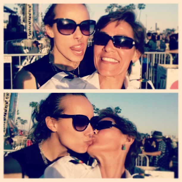 My sister and I #lezzing out at #longbeach #gaypride  yesterday.