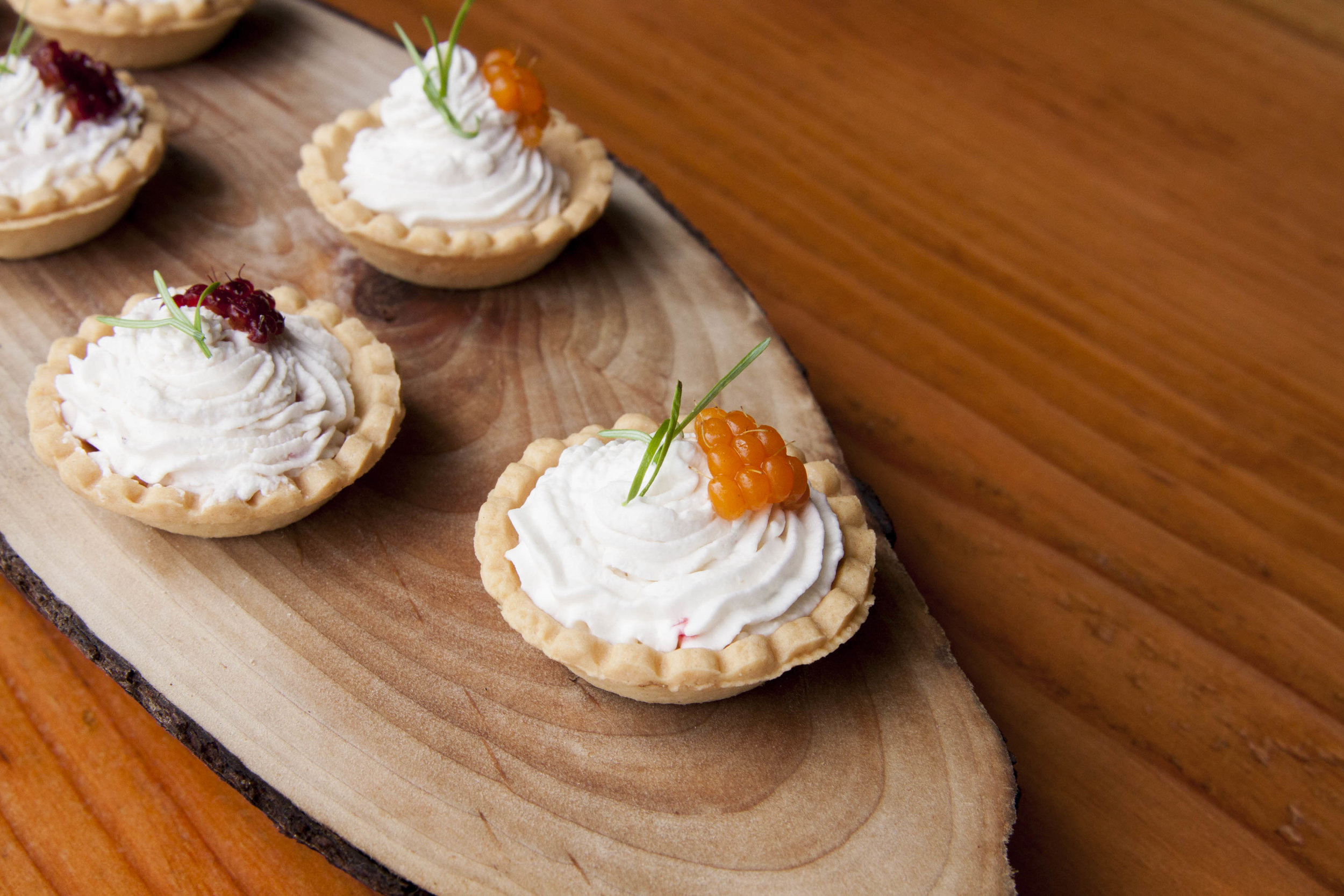 SalmonBerry Vanilla Bean Mousse Tartlettes