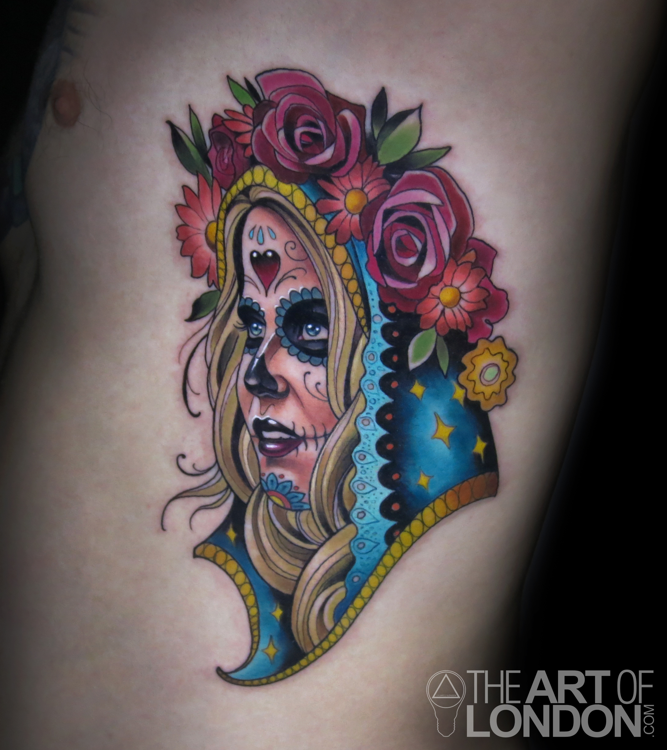 day of the dead neotrad girl tattoo.jpg