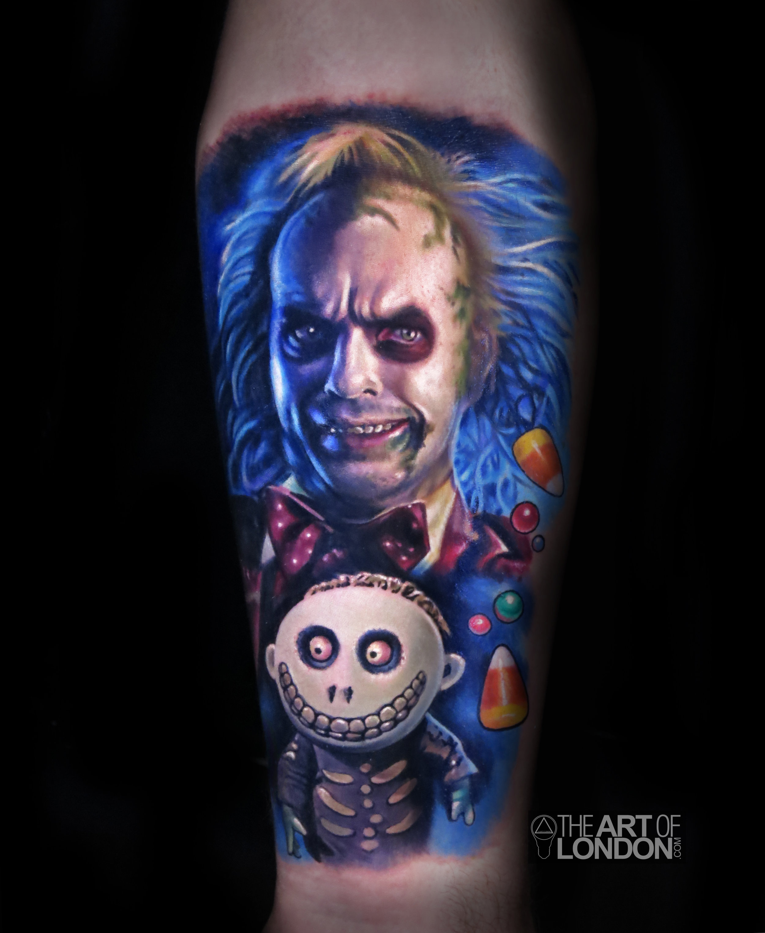 beetlejuice barrel nightmare before christmas tattoo 2.jpg