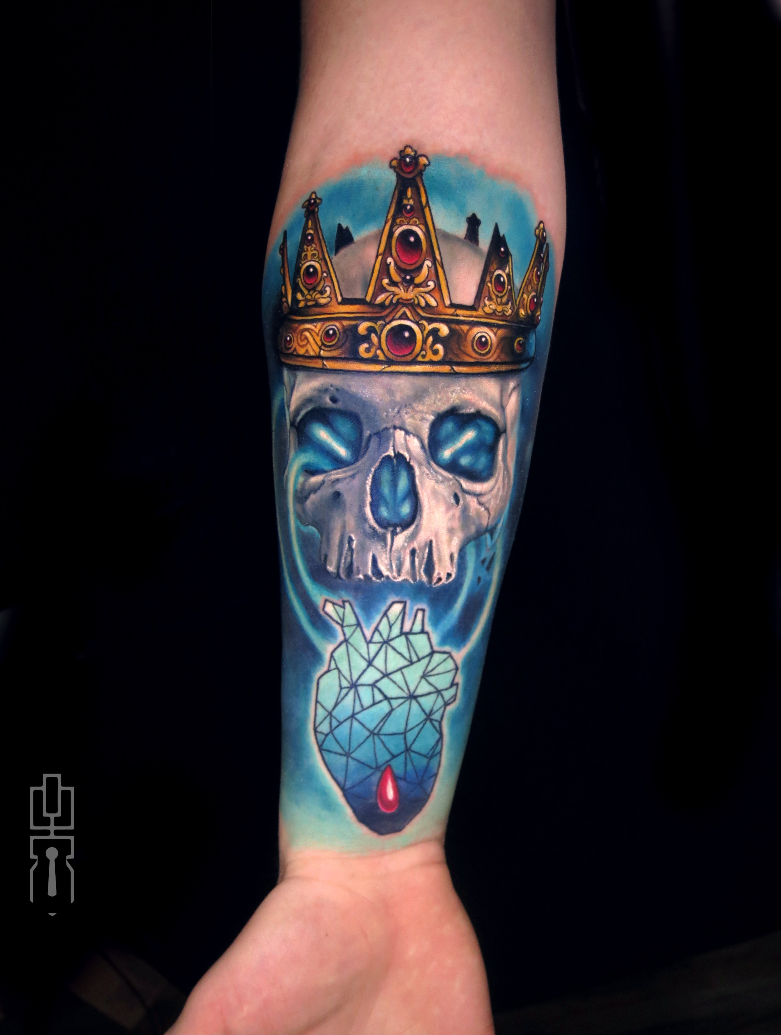 deathless king skull color geo heart tattoo.jpg