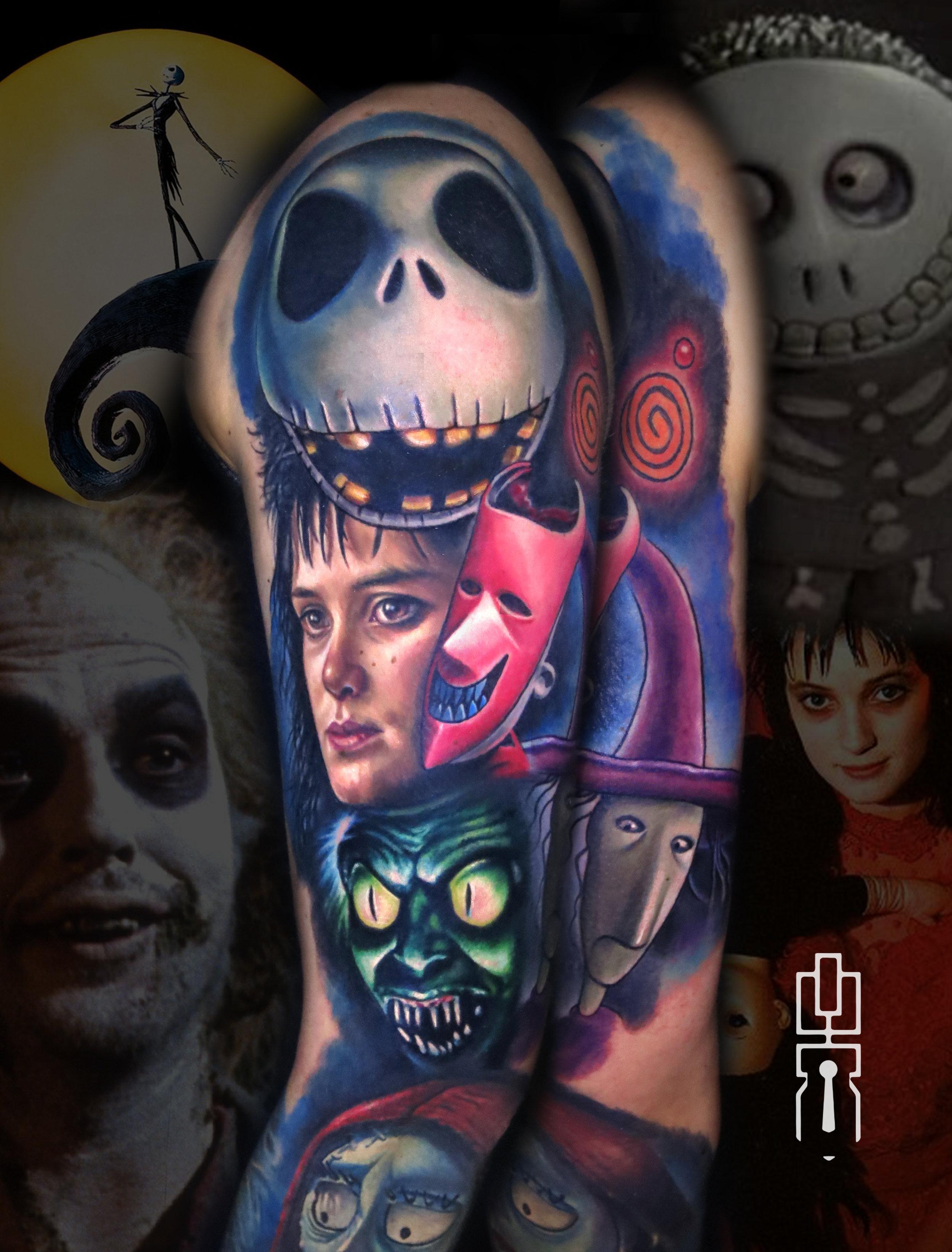 jack skellington lydia deetz beetlejuice tattoo 3.jpg