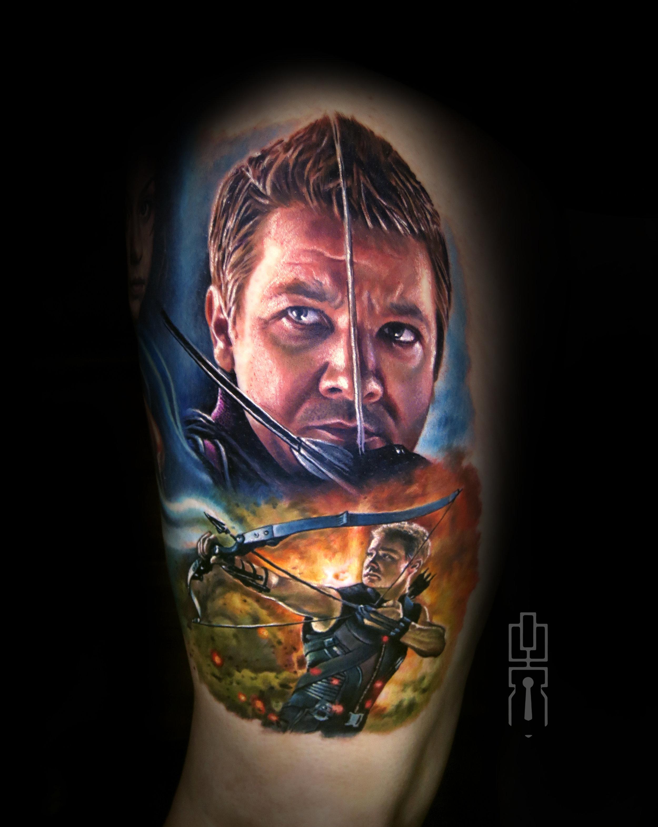hawkeye jeremy renner avengers marvel tattoo.jpg